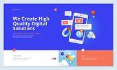 Effective Website Template Design. Modern Flat Design Vector Illustration Concept Of Web Page Design poster