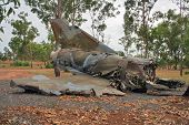 Crashed Military Fighter Jet Left Behind On The Crash Site poster