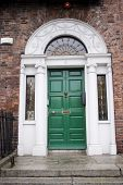 Green Georgian Door