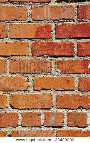 Old faded red brick - backgrounds