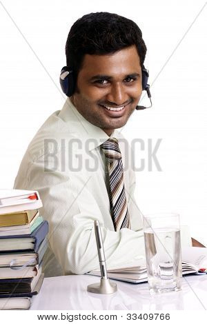 Indian business man posing