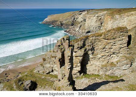 The Cornish coastline near Treknow