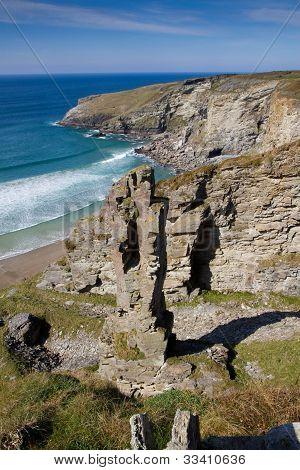 The Cornish coastline near Tintagel
