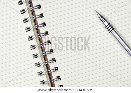 ball pen on Empty note