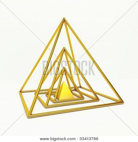 Gold Financial Pyramid