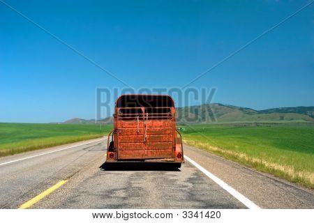 Red Rusty Truck