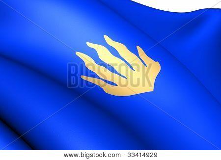 Flag Of Royken, Norway.