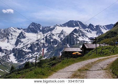 The Oetztal Alps in South Tyrol