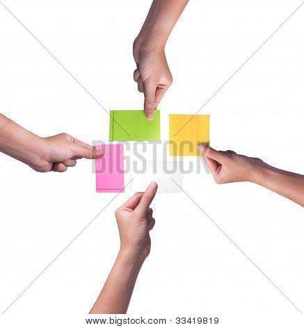 Set Of Hand Holding