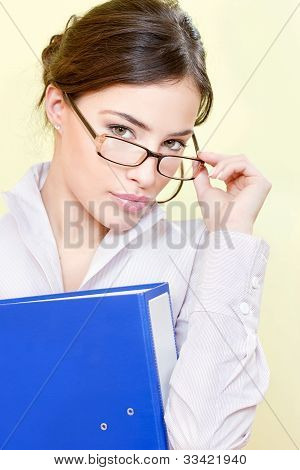 Secretary With Eyeglasses