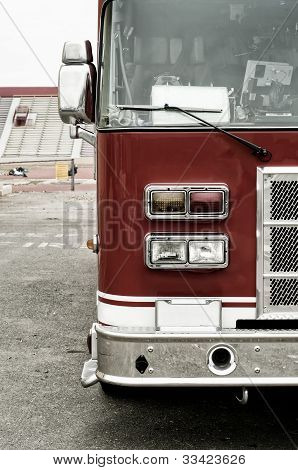 red fire truck