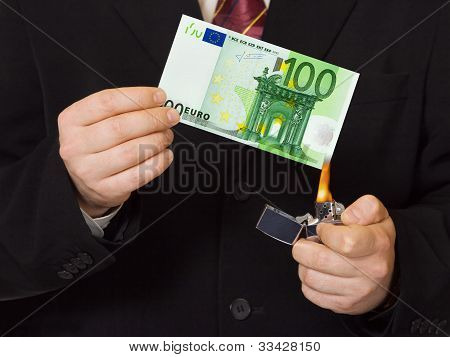 Hands And Burnning Money