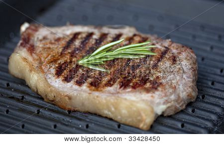 Beef Staek On The Grill