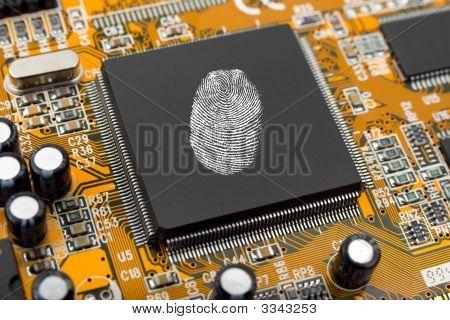 Fingerprint On Computer Chip