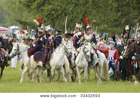 Borodino Battle. Cavalry Atack