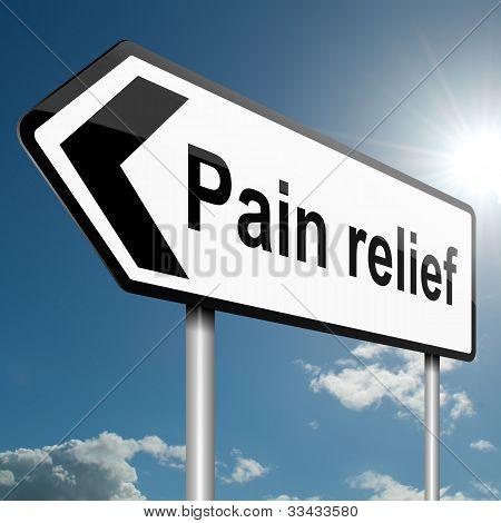 Pain Relief Concept.