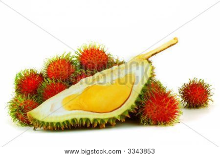 Durian And Rambutans