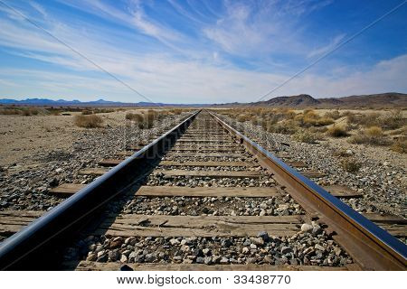 Railroad Into The Distance