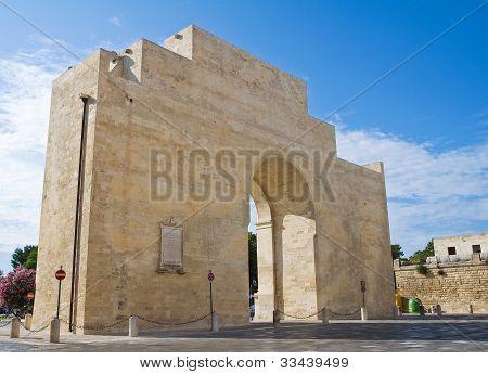 Neapolitan Gate. Lecce. Puglia. Italy.