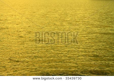 Gold water for a beautiful background