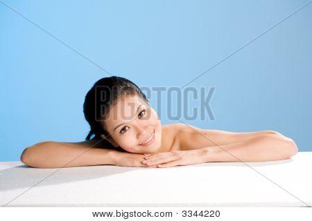 Relaxing Asian Young Women Smiles