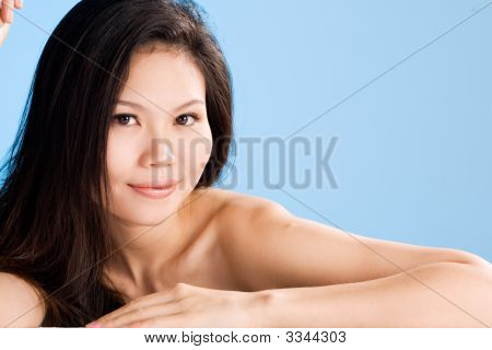 Refreshing Clean Face Of Asian Young Women