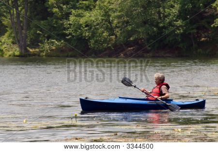 Senior Woman In Kayak