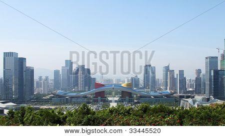 skyline of a modern city
