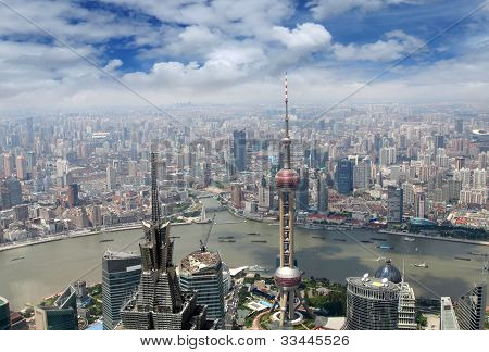 cityscape of Shanghai, China