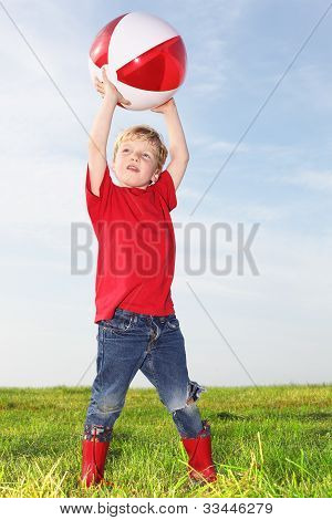 Boy Playing Ball