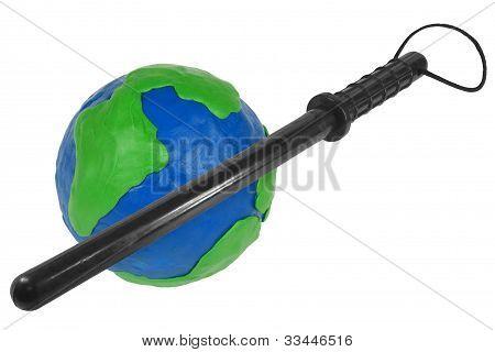 Globe And Police Baton