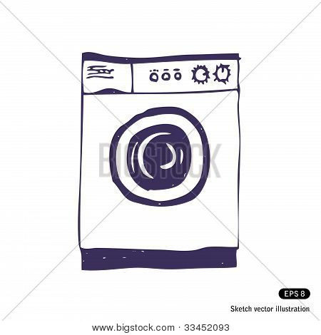 Washing machine. Isolated
