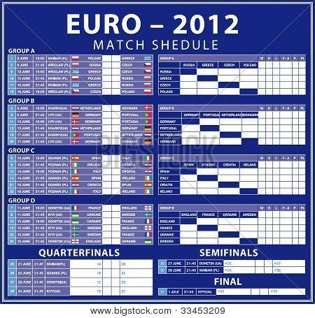 Euro 2012 matches