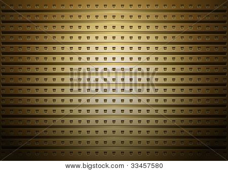 Gold surface pattern