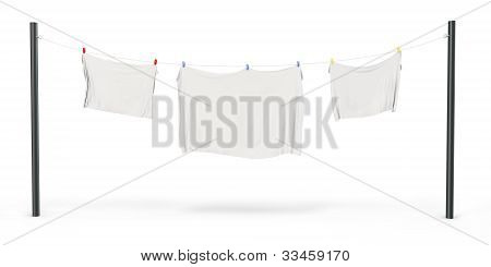 3D Clothes  Drying On Clothesline