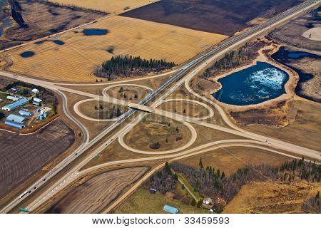 Aerial Highway Cloverleaf