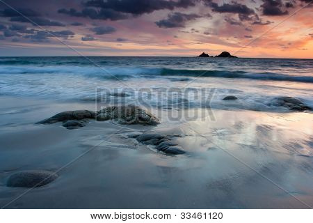 Vibrant Beach Sunset