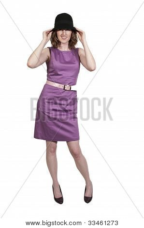 Beautiful Woman In A Mod Dress