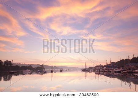 Céu ao nascer do sol