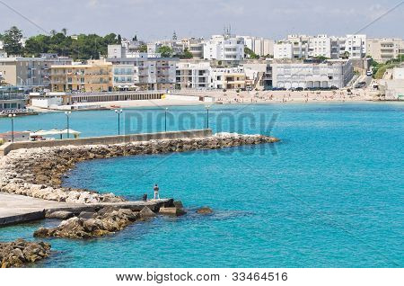 Panoramic view of Otranto. Puglia. Southern Italy.