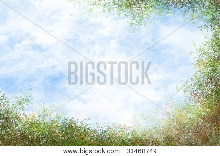 Foliage Framed Sky