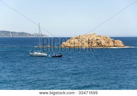 Spain. Island At The Coast Tossa De Mar