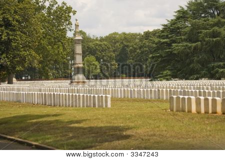 A Few Graves Of The 13000 Union Prisoners That Died At Andersonville