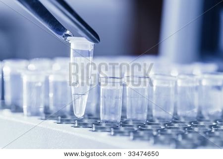 Loading DNA samples for PCR