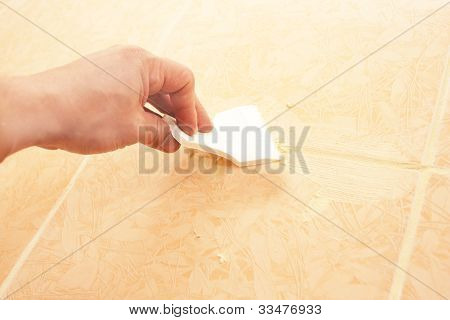 Work With A Putty Knife