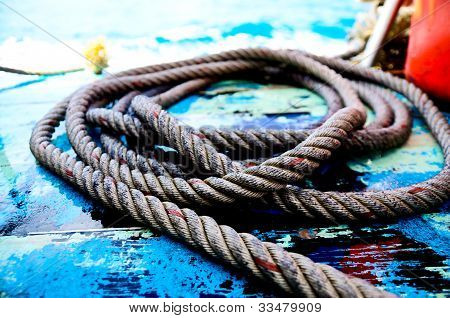 Ropes On A Sail Boat
