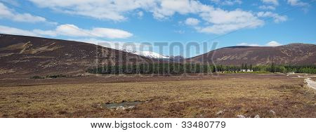Spittal Of Glenmuick With Lochnagar In The Background.