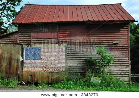 Shack With Flag