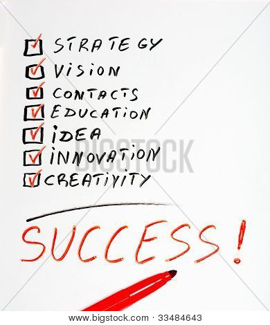 Success handwritten chart