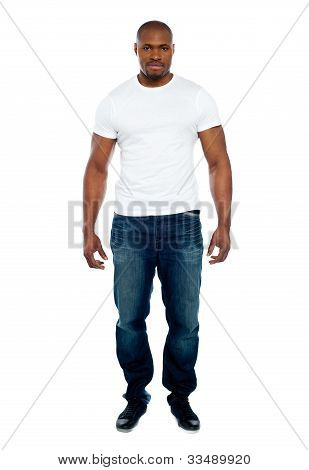 Masculine African Man Full-length Portrait